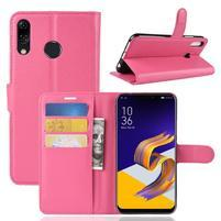 Litchi PU kožené pouzdro na Asus Zenfone 5 ZE620KL - rose