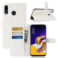 Litchi PU kožené pouzdro na Asus Zenfone 5 ZE620KL - bílé