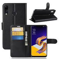 Litchi PU kožené pouzdro na Asus Zenfone 5 ZE620KL - černé