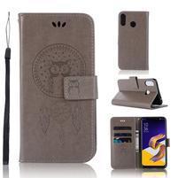 Dream PU kožené peněženkové pouzdro na Asus Zenfone 5Z ZS620KL - šedé