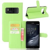 Graines PU kožené pouzdro na mobil Asus Zenfone AR ZS571KL - zelené