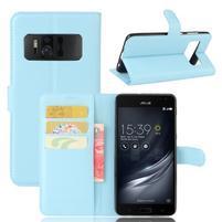 Graines PU kožené pouzdro na mobil Asus Zenfone AR ZS571KL - světlemodré