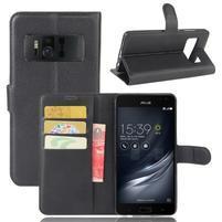 Graines PU kožené pouzdro na mobil Asus Zenfone AR ZS571KL - černé