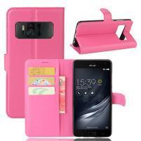 Graines PU kožené pouzdro na mobil Asus Zenfone AR ZS571KL - rose