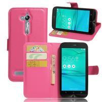 Peněženkové pouzdro na Asus Zenfone Go ZB500KL - rose