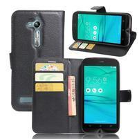 Peněženkové pouzdro na Asus Zenfone Go ZB500KL - černé
