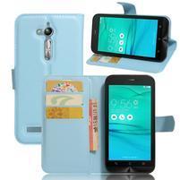 Peněženkové pouzdro na Asus Zenfone Go ZB500KL - světlemodré