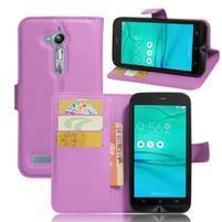 Peněženkové pouzdro na Asus Zenfone Go ZB500KL - fialové