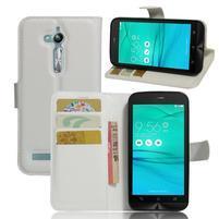 Peněženkové pouzdro na Asus Zenfone Go ZB500KL - bílé