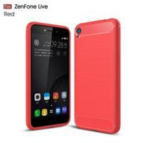 Carbon odolný gelový obal na Asus Zenfone Live ZB501KL - červený