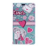 Flapy peněženkové pouzdro na Asus Zenfone Live ZB501KL - love