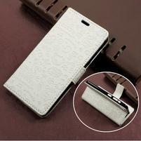 Cartoo zapínací peněženkové pouzdro na Asus Zenfone Live ZB501KL - bílé