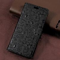 Cartoo zapínací peněženkové pouzdro na Asus Zenfone Live ZB501KL - černé