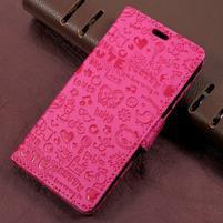 Cartoo zapínací peněženkové pouzdro na Asus Zenfone Live ZB501KL - rose