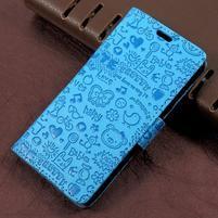 Cartoo zapínací peněženkové pouzdro na Asus Zenfone Live ZB501KL - modré