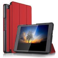 Trifold PU kožené polohovatelné pouzdro na Asus ZenPad 3 8.0 Z581KL - červené