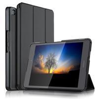 Trifold PU kožené polohovatelné pouzdro na Asus ZenPad 3 8.0 Z581KL - černé