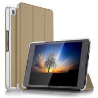 Trifold PU kožené polohovatelné pouzdro na Asus ZenPad 3 8.0 Z581KL - zlaté