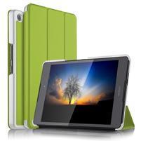 Trifold PU kožené polohovatelné pouzdro na Asus ZenPad 3 8.0 Z581KL - zelené