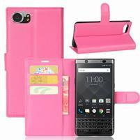 Graines knížkové PU kožené pouzdro na BlackBerry Keyone - rose