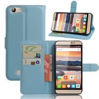 Wallet PU kožené pouzdro na Cubot Note S - modré