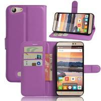 Wallet PU kožené pouzdro na Cubot Note S - fialové