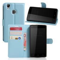 Wallet PU kožené puzdro na Doogee X5 Max/X5 Max Pro - svetlomodré