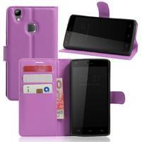 Wallet PU kožené pouzdro na Doogee X5 Max/X5 Max Pro - fialové