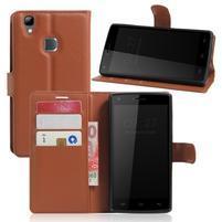 Wallet PU kožené puzdro na Doogee X5 Max/X5 Max Pro - hnedé