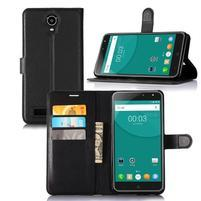 Wallet PU kožené pouzdro na Doogee X7/X7 Pro - černé