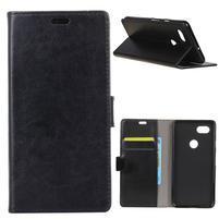Crazy PU kožené peněženkové pouzdro na mobil Google Pixel 3 - černé