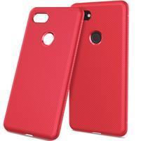 Twill gelový obal s texturou pro Google Pixel 3 XL - červený