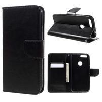 Wallet PU kožené pouzdro na mobil Google Pixel XL - černé