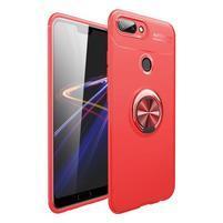 Finger silikonový kryt se stojánkem pro Honor 10 Lite - červený