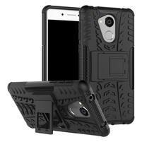 Outdoor odolný obal se stojánkem na mobil Huawei Nova Smart - černý