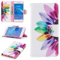 Emotive peněženkové pouzdro na mobil Huawei Nova Smart - barevný květ