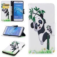 Patty peněženkové pouzdro na Honor 6C - panda na bambusu