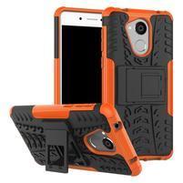 Outdoor odolný obal se stojánkem na mobil Huawei Nova Smart - oranžový
