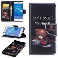 Emotive peněženkové pouzdro na mobil Huawei Nova Smart - nešahat