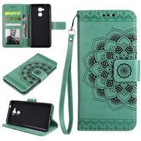 Lotus PU kožené pouzdro s poutkem na Honor 6C - zelené