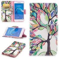 Emotive peněženkové pouzdro na mobil Huawei Nova Smart - malovaný strom