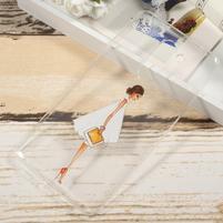 Funs gelový obal na mobil Honor 6x - bílé šaty