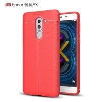 Litch odolný obal s texturovanými zády na Honor 6X - červený