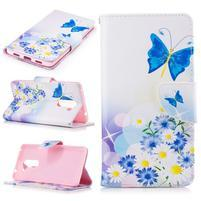 Emotive peněženkové pouzdro na mobil Honor 6x - modří motýlci