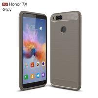 Carbon odolný gelový obal s broušením na Honor 7X -  šedý