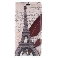Emotive PU kožené klopové pouzdro na Honor 7X -  Eiffelova věž