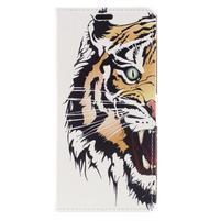 Emotive PU kožené klopové pouzdro na Honor 7X -  tygr