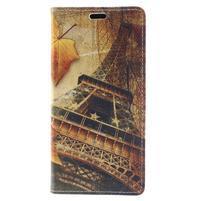Emotive PU kožené klopové pouzdro na Honor 7X -  Eiffelovka