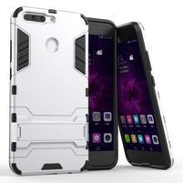 Defender odolný obal na mobil Honor 8 Pro - stříbrný
