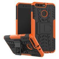 Outdoor odolný obal na Honor 8 Pro - oranžový